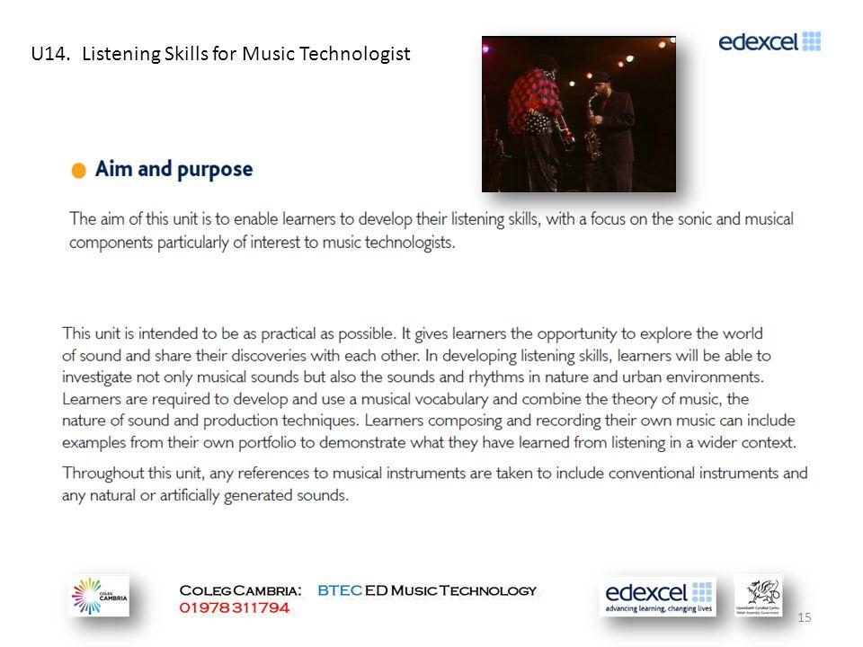 U14. Listening Skills for Music Technologist 15
