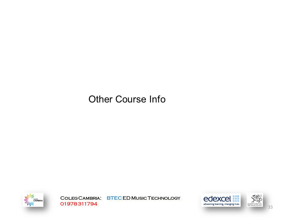Other Course Info 33