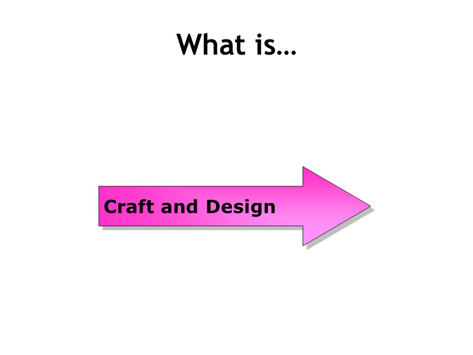 What is Craft and Design Craft and Design is the closest subject to the CDT you have done in S1 and S2.