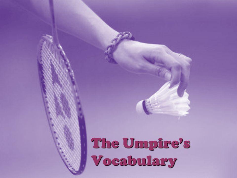 The Umpires Vocabulary