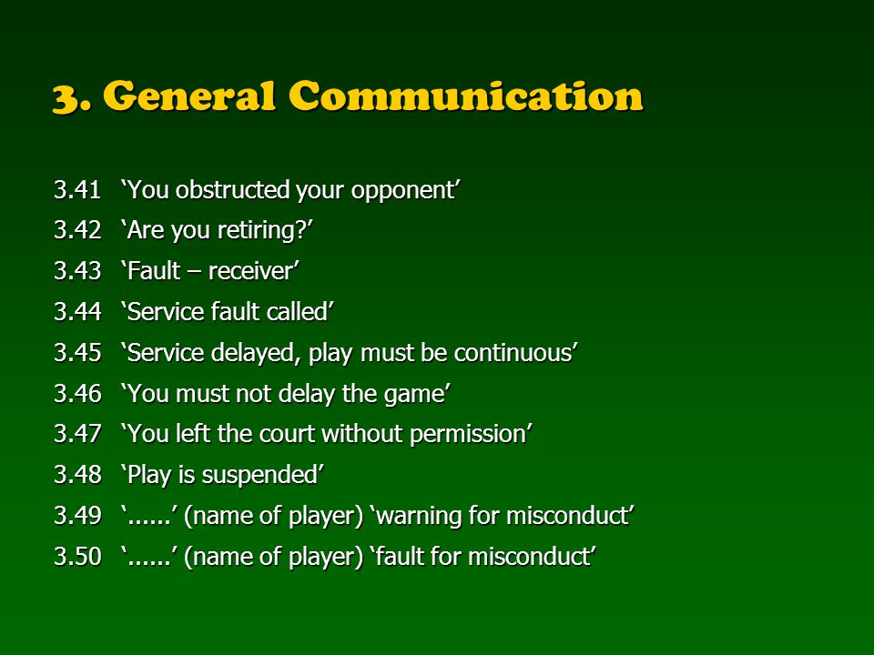 3.General Communication 3.51......