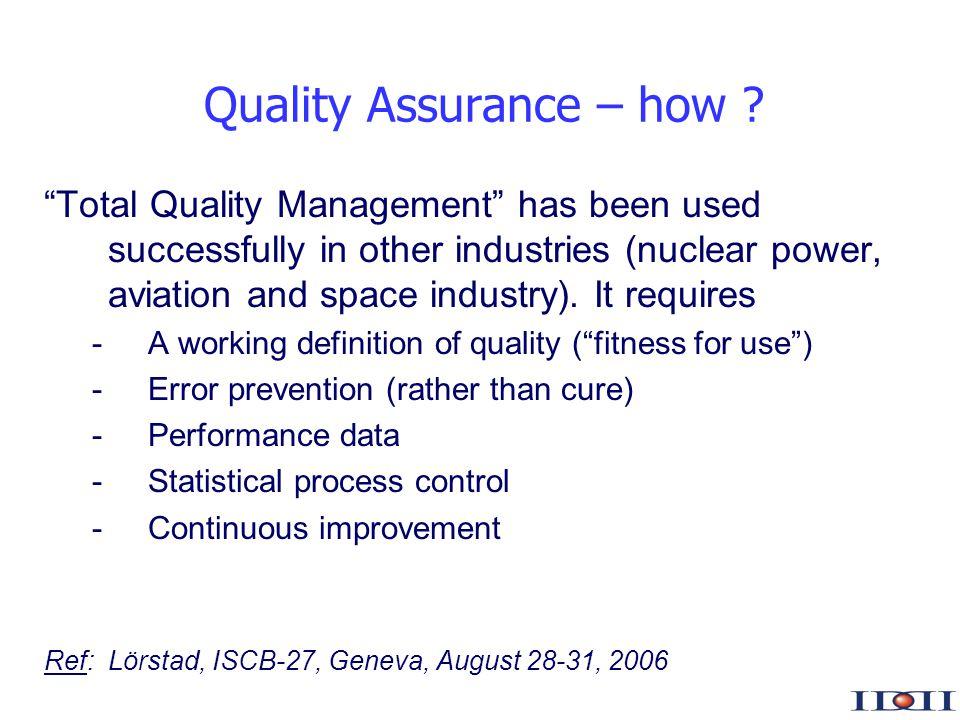 www.iddi.com Quality Assurance – how .