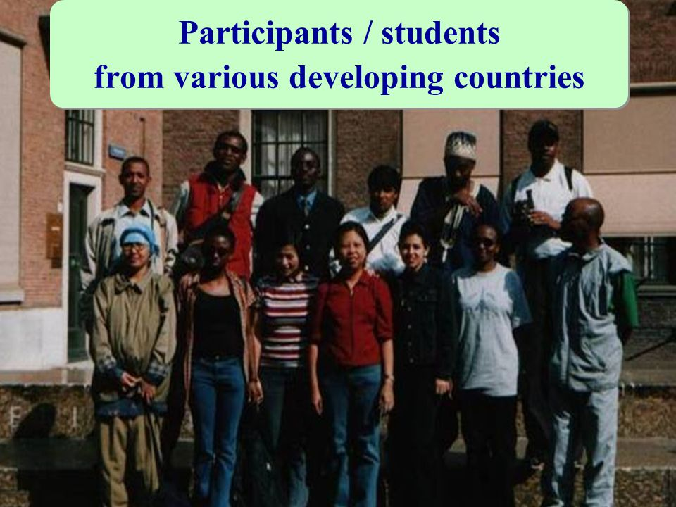 Participants / students from various developing countries