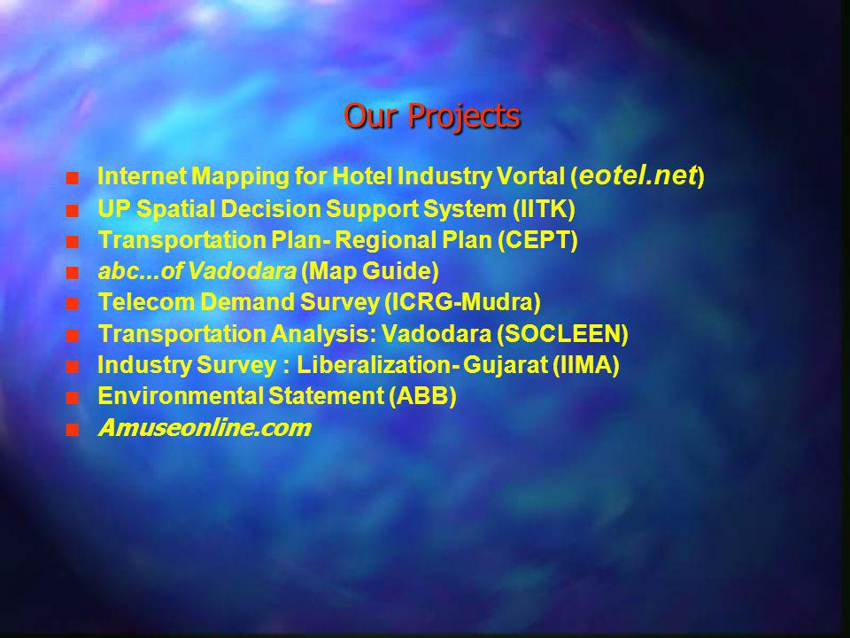 Our Future Works n n Spatial Decision Support System n n GIS/IS Applications for Transmission & Distribution n n GIS based Network Expansion Planning n n E-governance (G2G) Applications