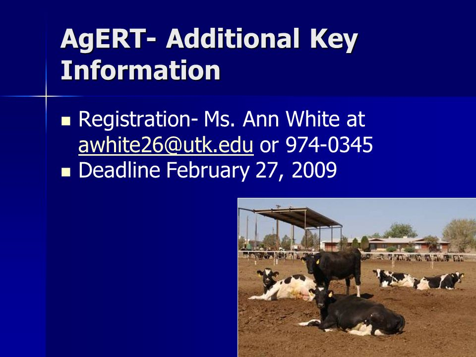 AgERT- Additional Key Information Registration- Ms.