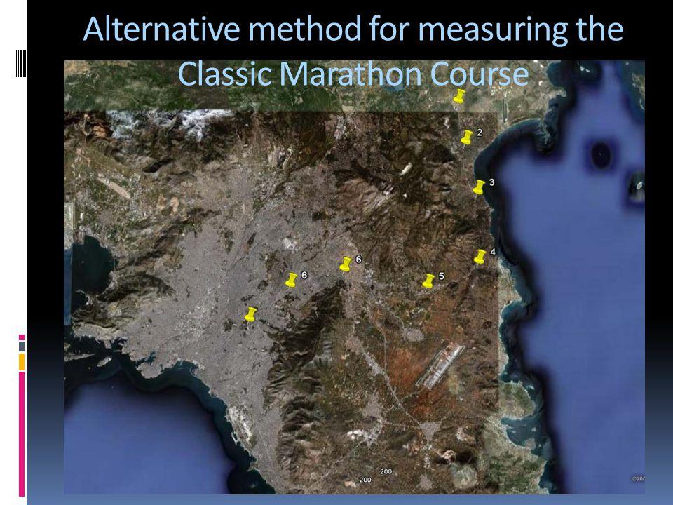Alternative method for measuring the Classic Marathon Course