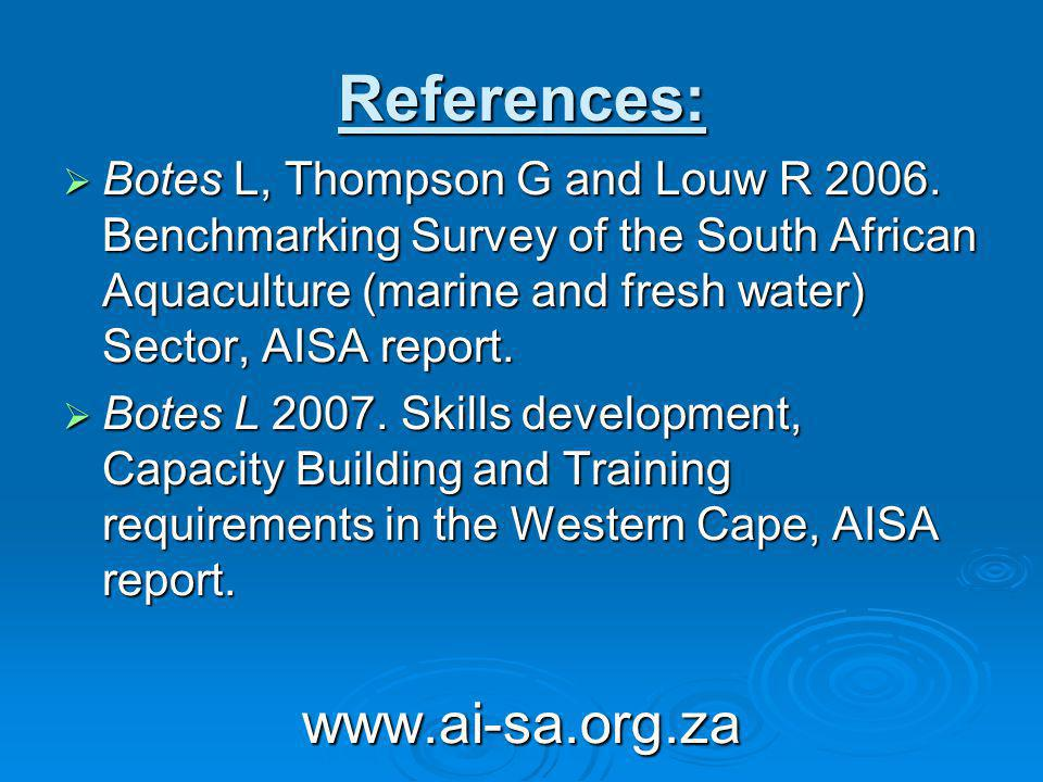 References: Botes L, Thompson G and Louw R 2006.