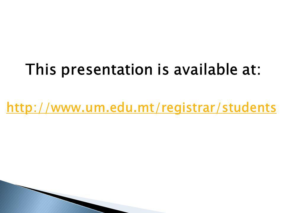 This presentation is available at: http://www.um.edu.mt/registrar/students