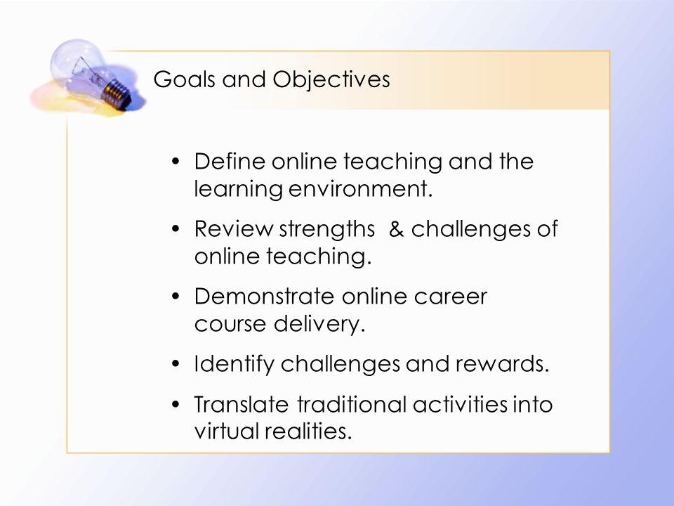 What makes a good online teacher.