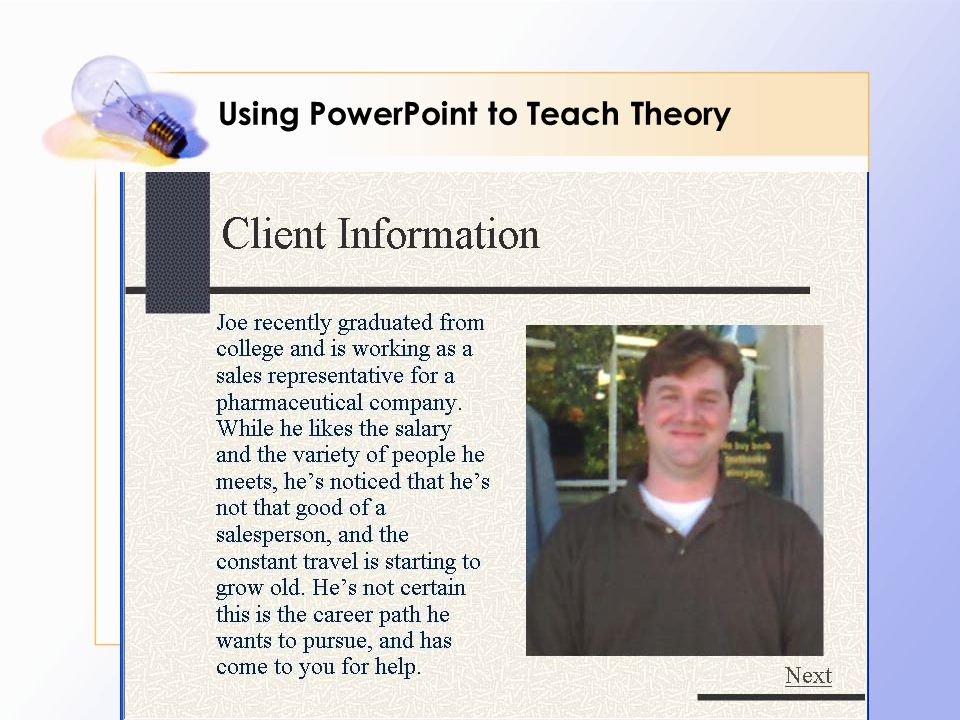Using PowerPoint to Teach Theory