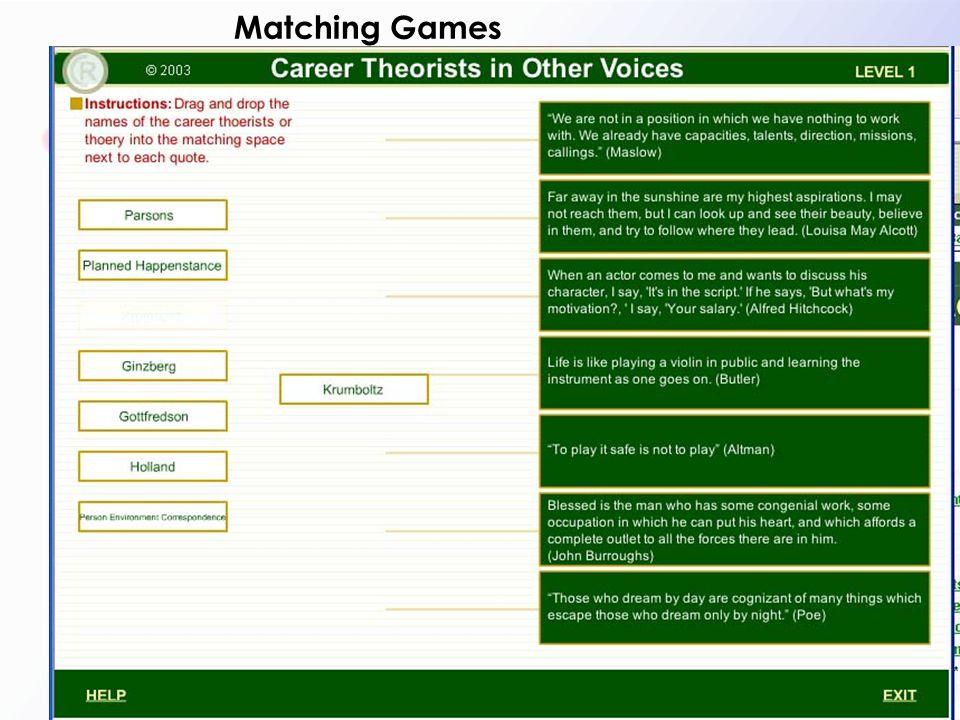 Matching Games