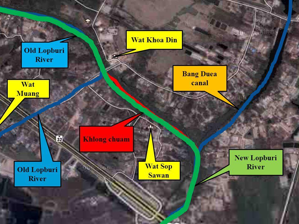 END New Lopburi River Old Lopburi River Bang Duea canal Old Lopburi River Khlong chuam Wat Khoa Din Wat Muang Wat Sop Sawan