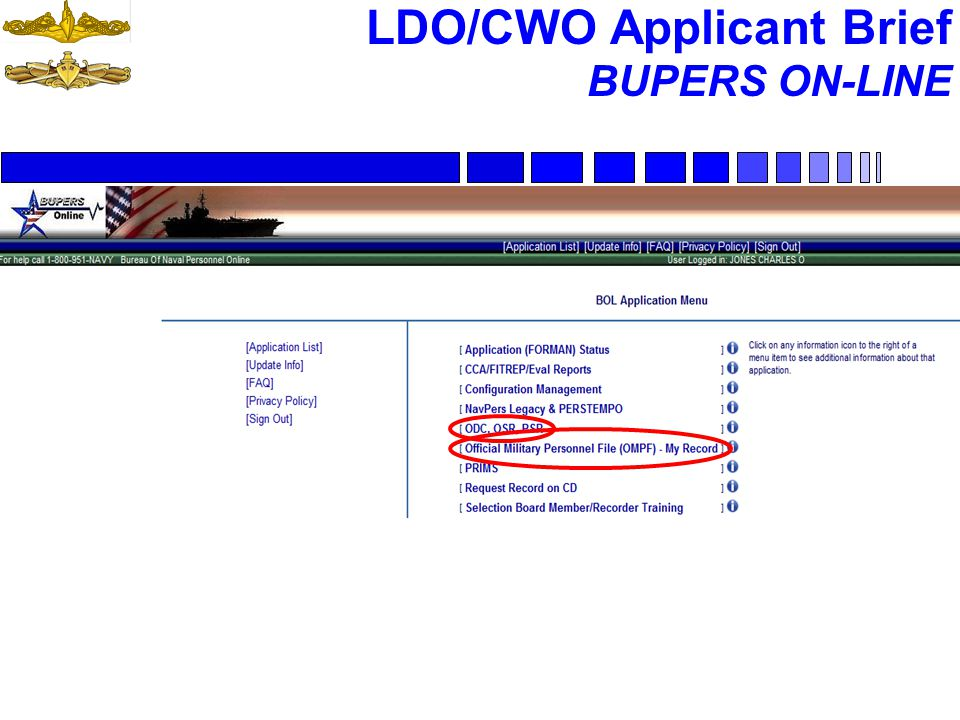 LDO/CWO Applicant Brief BUPERS ON-LINE 45