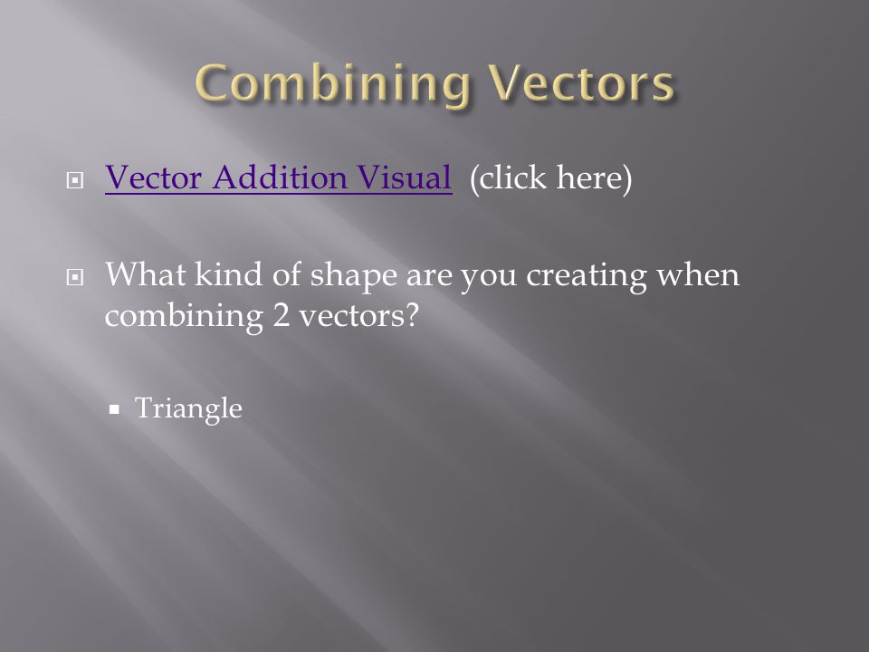 Go to following applet to see the resultant vector.