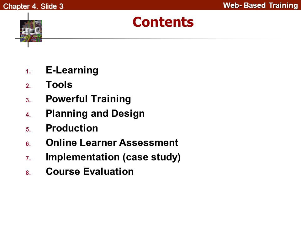 Web- Based Training Web- Based Training Chapter 4.