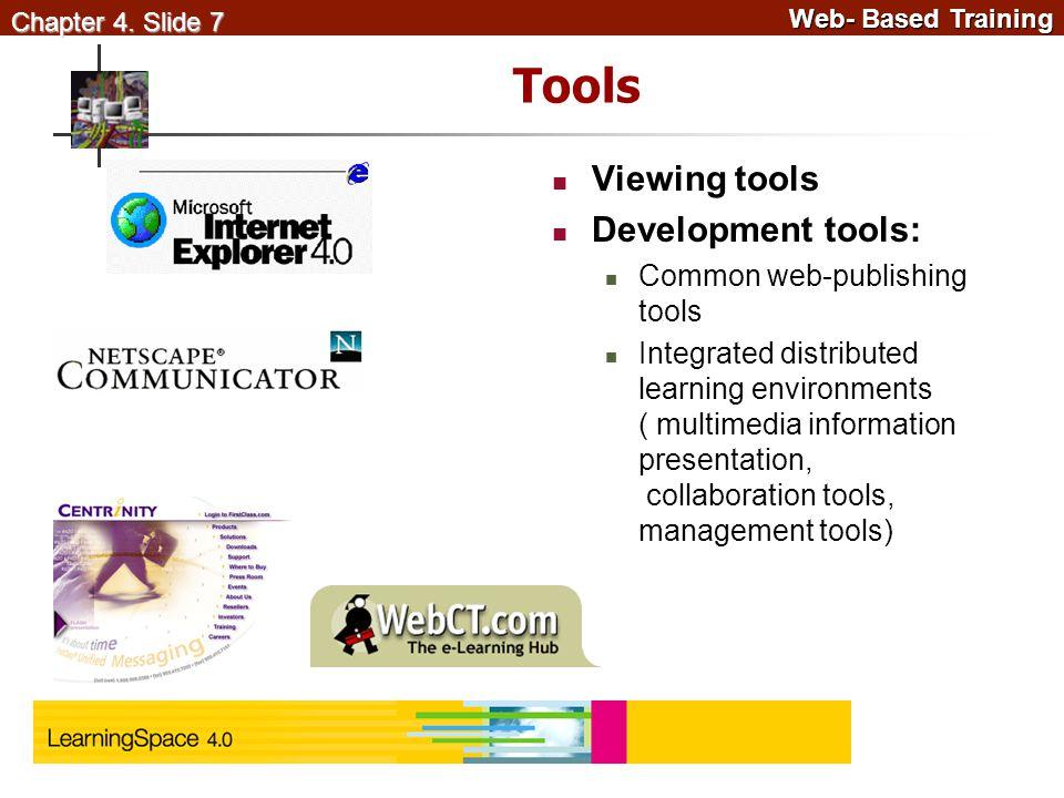 Web- Based Training Web- Based Training Chapter 4.
