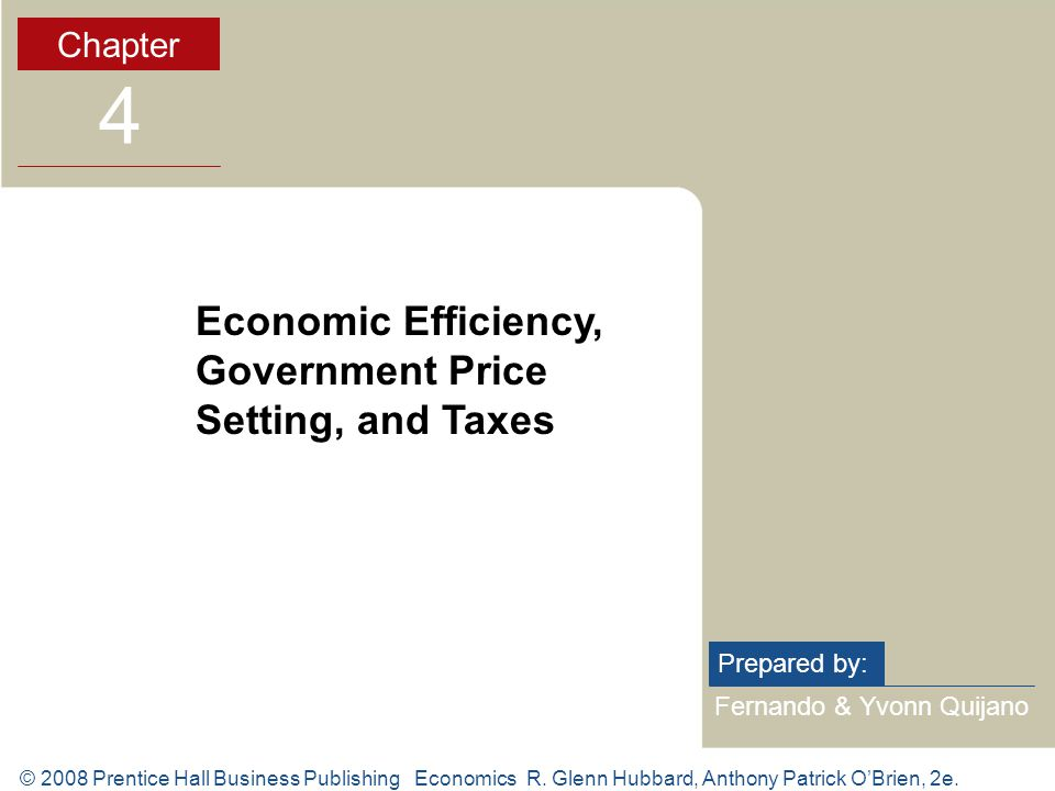© 2008 Prentice Hall Business Publishing Economics R.