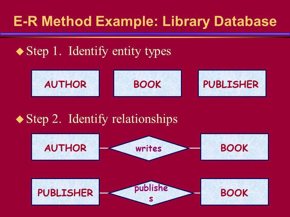 University Example (contd) u Step 6.