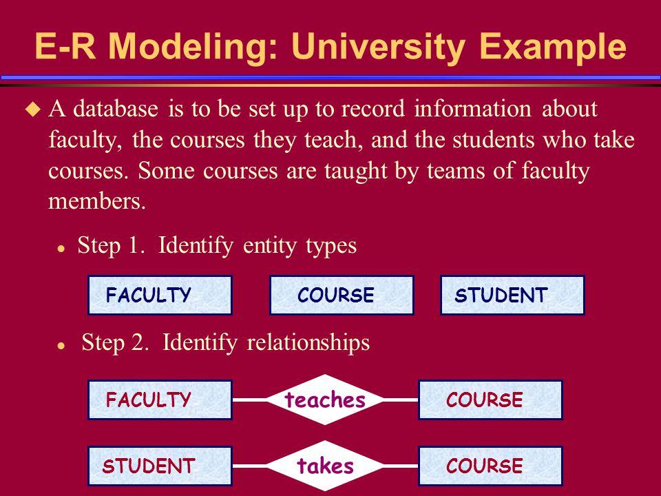 University Example (contd) u Step 3.Determine relationship type.