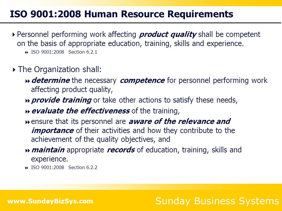 Sunday Business Systems www.SundayBizSys.com Add Employee ID, Name, and email address Select an Employee Type (regular or temp) Select a Department Enter a Shift, and Reports to supervisor/manager Date of Hire (DOH) and position start date New employees are Active Inactive employees have termination dates and do not appear in many reports Select the Employee Positions An employee may hold more than one position Enter any employee specific training Create a user login (if necessary) with access privileges Add New Employees