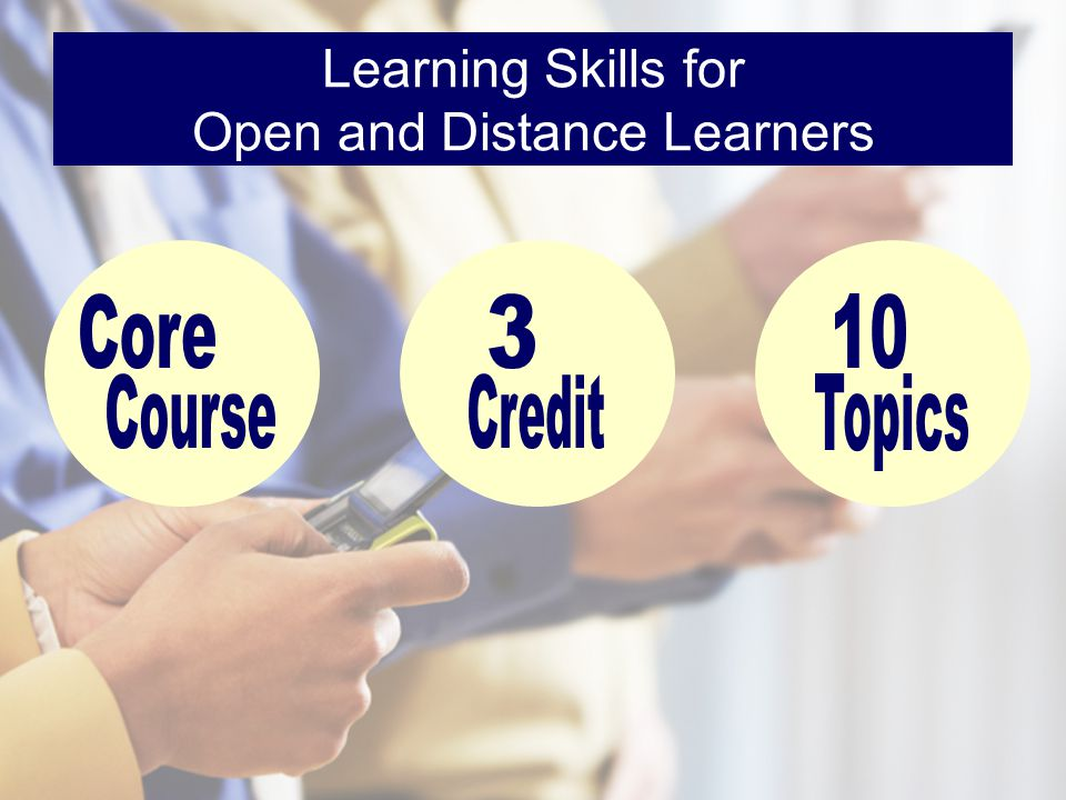 Learning Skills for Open and Distance Learners