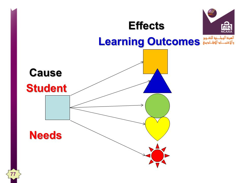 Effects Learning Outcomes Cause Student Student Needs Needs 77