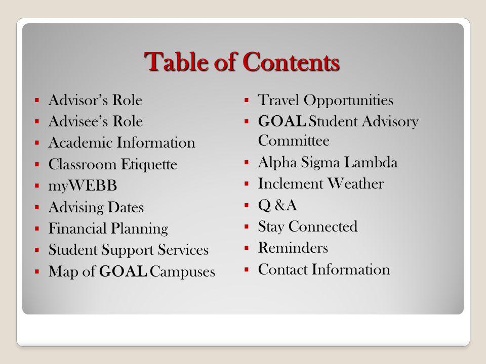 Advisors Role How does your Academic Advisor help you.