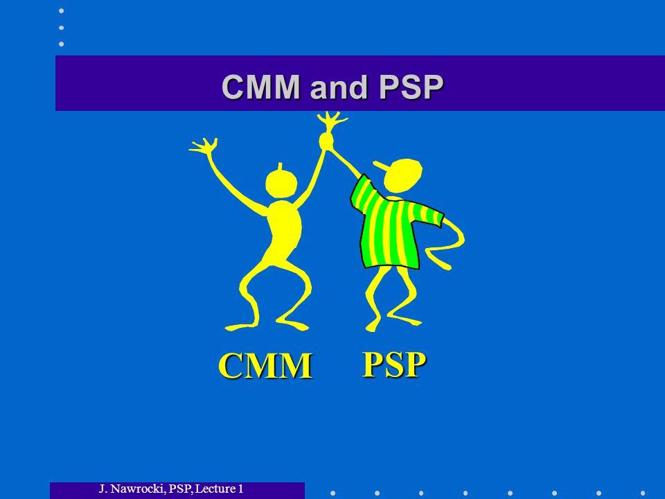 J. Nawrocki, PSP, Lecture 1 CMM and PSP CMM PSP