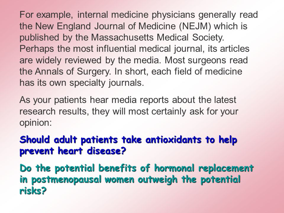 Why should medical students learn biostatistics.1.Medicine is becoming increasingly QUANTITATIVE.