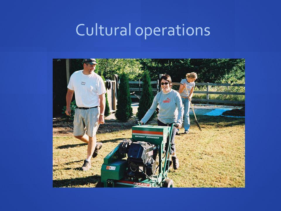 Cultural operations
