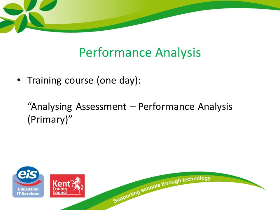Performance Analysis Training course (one day): Analysing Assessment – Performance Analysis (Primary)