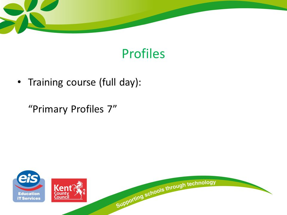 Profiles Training course (full day): Primary Profiles 7