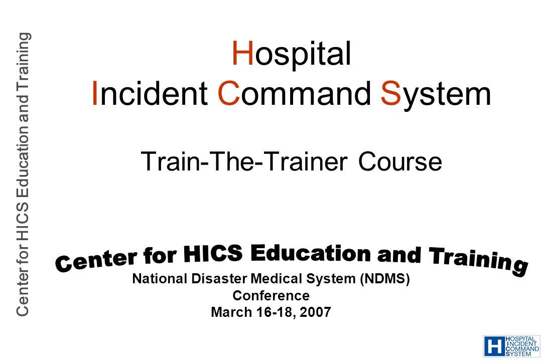 Center for HICS Education and Training HICS 203: Organization Assignment List Radar OReilly John Q.