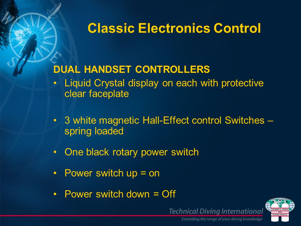 Classic Electronics Control DUAL HANDSET CONTROLLERS Liquid Crystal display on each with protective clear faceplate 3 white magnetic Hall-Effect contr