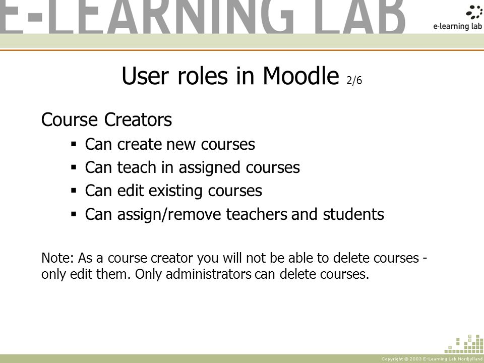 Interface of Moodle 7/7 Teasers Offer quick access to the latest information; -News -Upcoming events -Recent activities