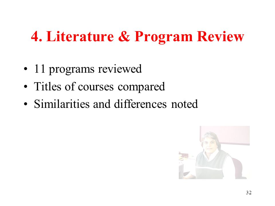 33 VI. Preliminary Recommendations Policy & Management Faculty & Curriculum Instruction & Delivery