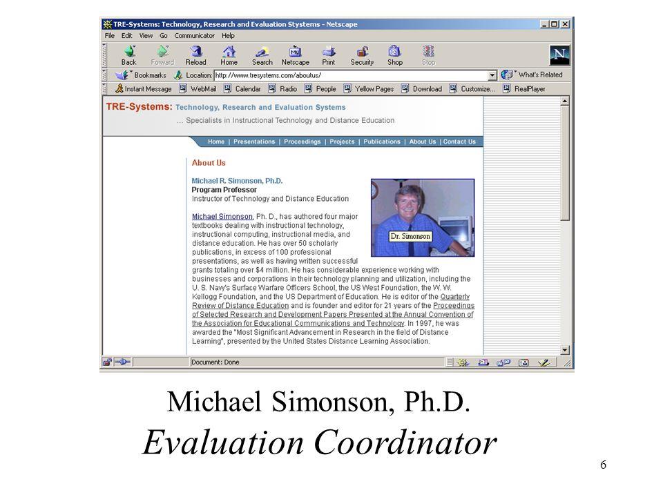 7 Judy Converso, Ph.D. Comparisons With Similar University Programs