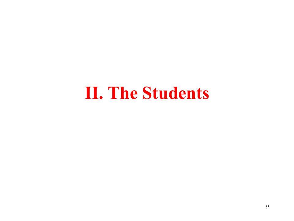 9 II. The Students