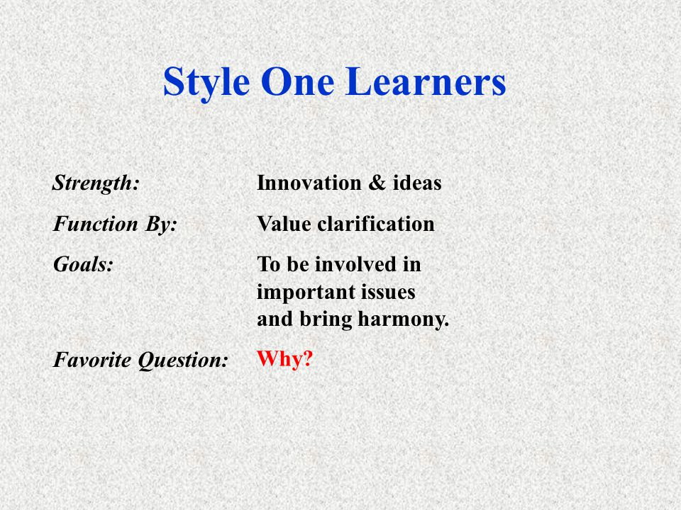 Learning Style Learning style is defined as a combination of cognitive, affective, and physiological factors that serve as relatively stable indicator