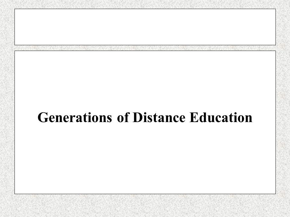 Generations of Distance Education