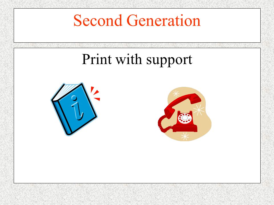 Second Generation Print with support