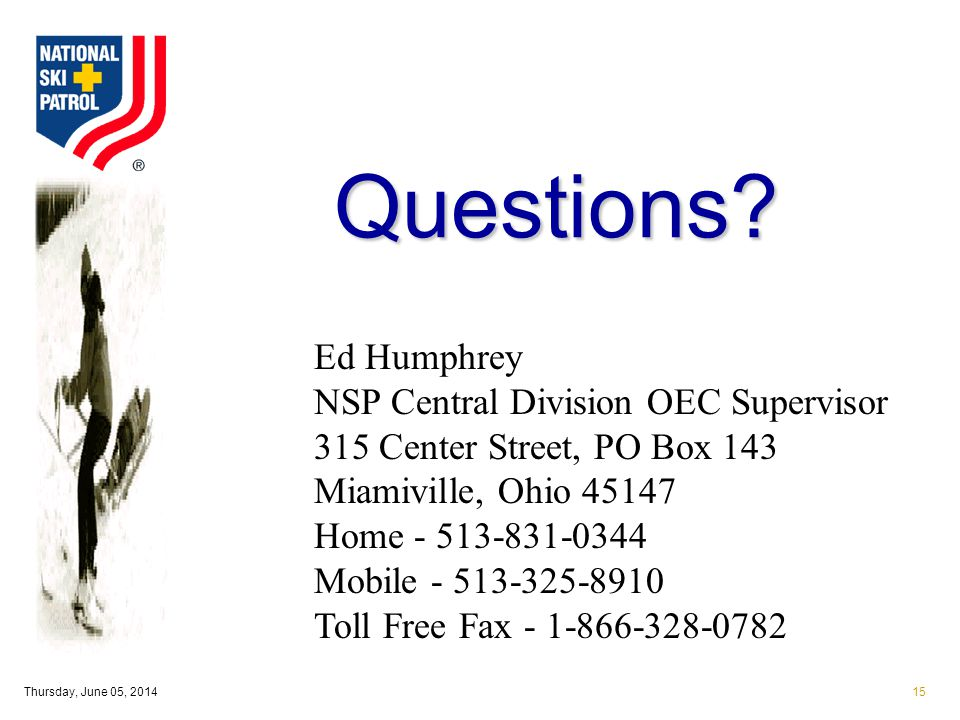 Thursday, June 05, 201415 Questions.