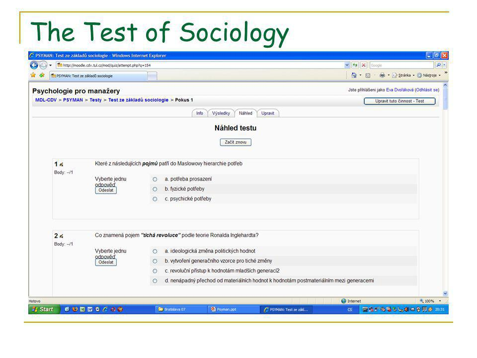 The Test of Sociology