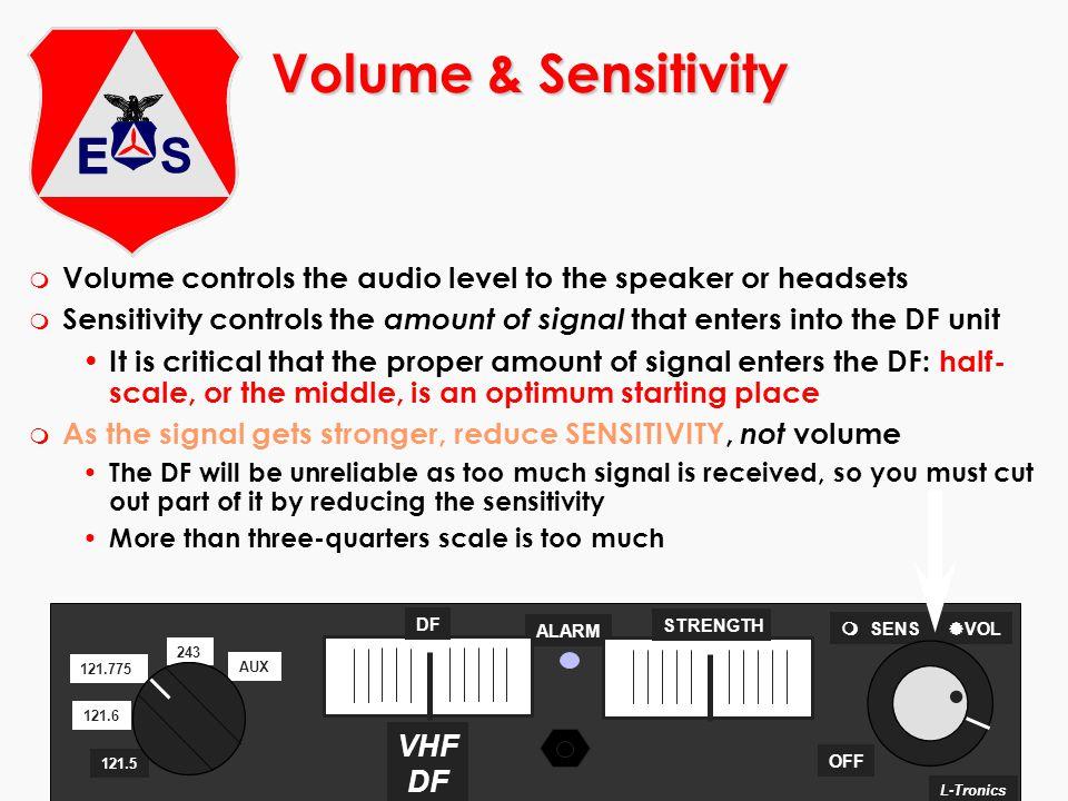 ©2000 Scott E. Lanis176 Volume & Sensitivity m Volume controls the audio level to the speaker or headsets m Sensitivity controls the amount of signal