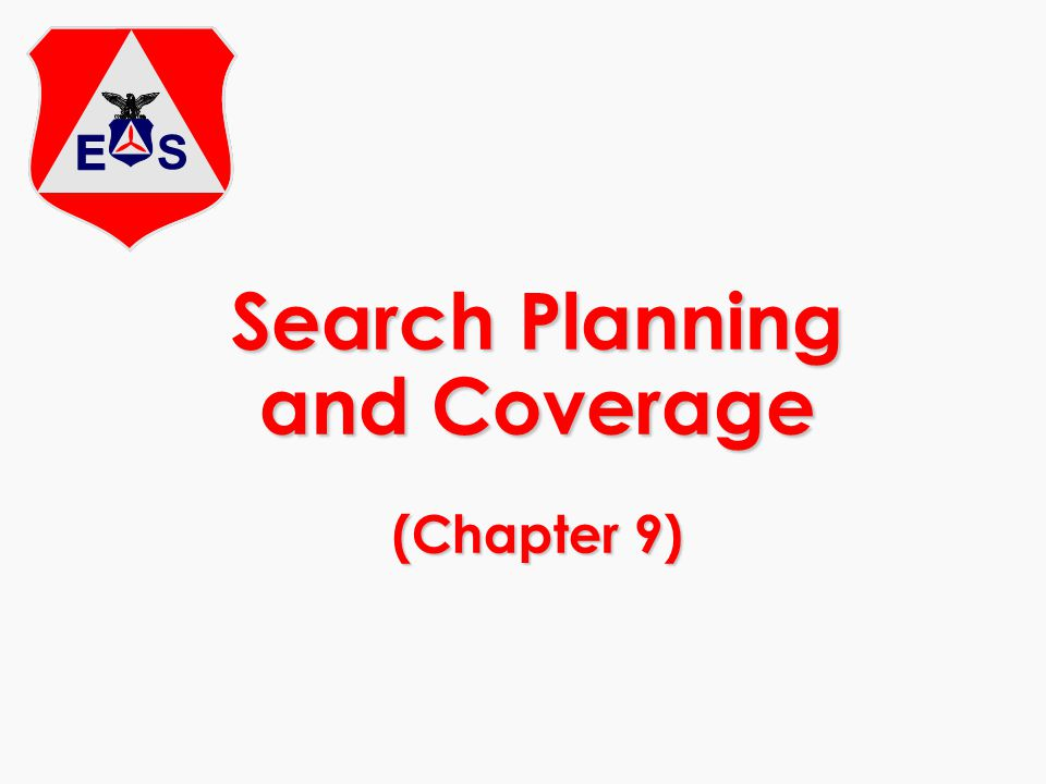 Search Planning and Coverage (Chapter 9)