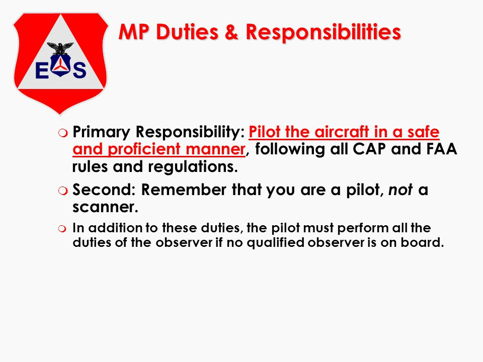 m CAP members do not have the authority to trespass onto private property, either to gain access to the aircraft or to enter the aircraft to gain access to the ELT m Besides the owner/operator, some owners give FBO personnel permission to enter their aircraft Legal Issues