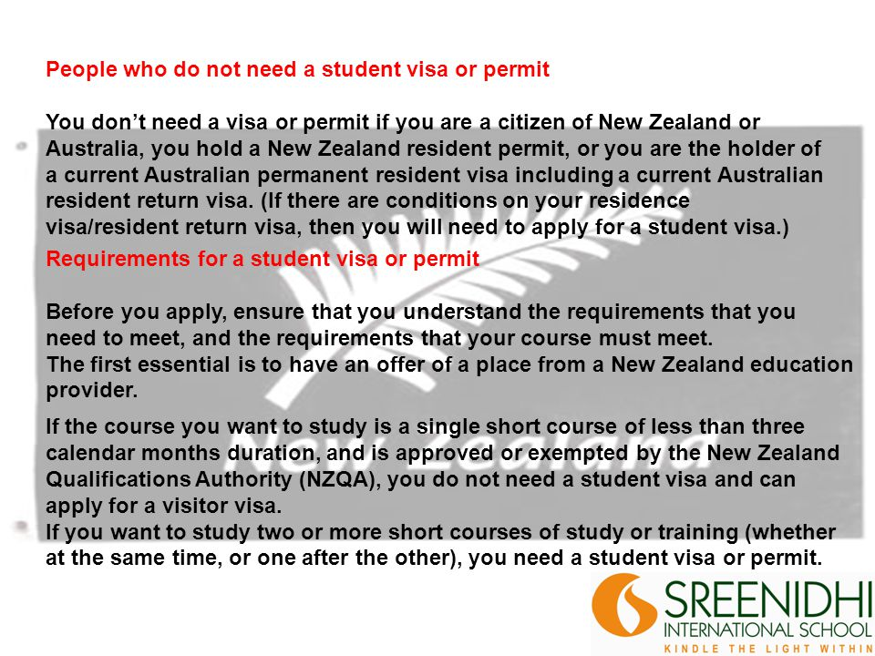 The offer must include: The name of the course and the minimum time required for completing it, proof that the course and the course provider should meet New Zealands requirements for international students the amount of the fee for the complete course or, if the course is longer than one year, the annual fee whether you have to pay course fees and whether the fees are domestic or foreign, whether you are studying full-time or part-time.
