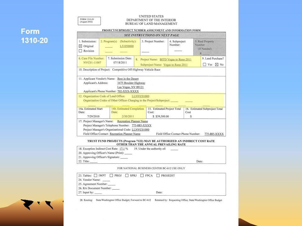 Form 1310-20