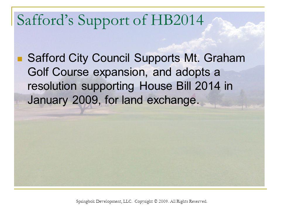 Springbok Development, LLC. Copyright © 2009. All Rights Reserved. Resolution No. 09-001