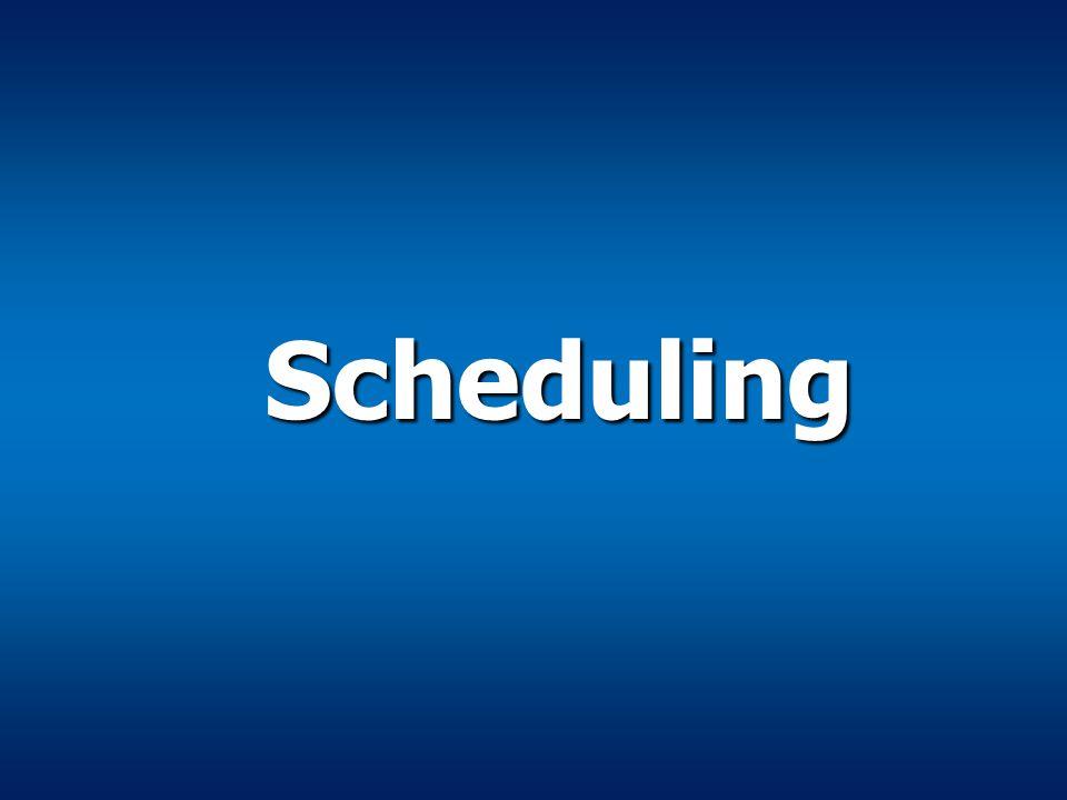 Scheduling Scheduling